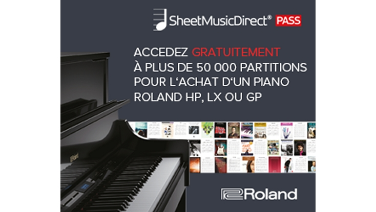 Partenariat Roland et Sheet Direct Music