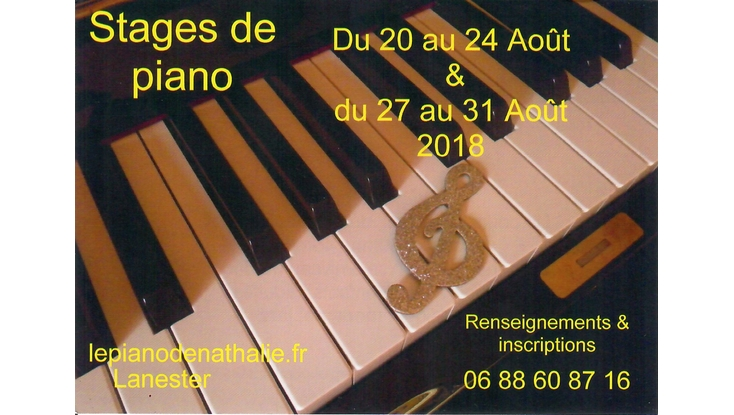 Stages de Piano – Août 2018