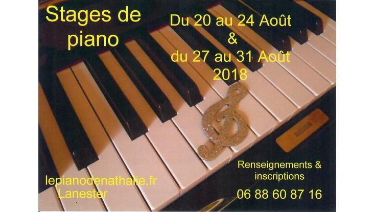 Stages de Piano – Août 2018