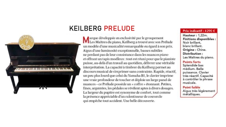 Diapason d'or pour le Keilberg Prélude